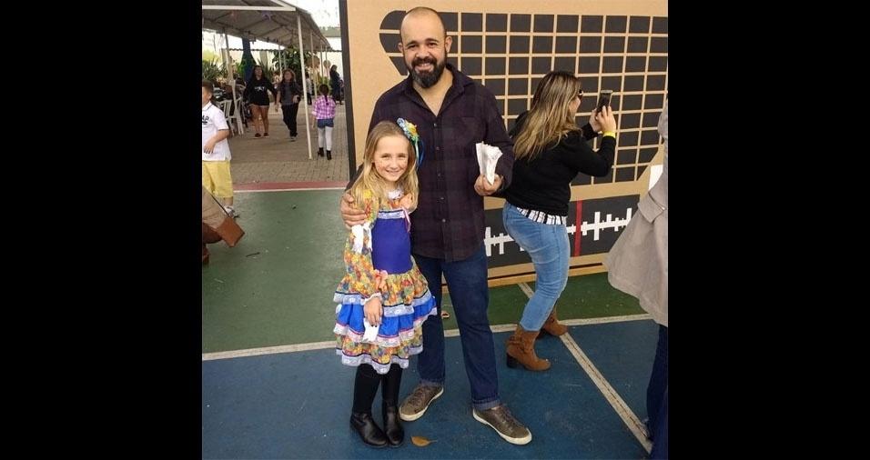 Eduardo Bachmann e a filha Maria Eduarda Bachmann, de São Paulo (SP)
