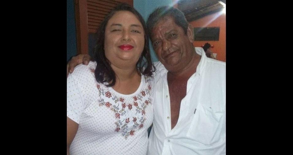 Paula Virgínia, de Campo Maior (PI), em foto com o pai, Veudaci da Silva