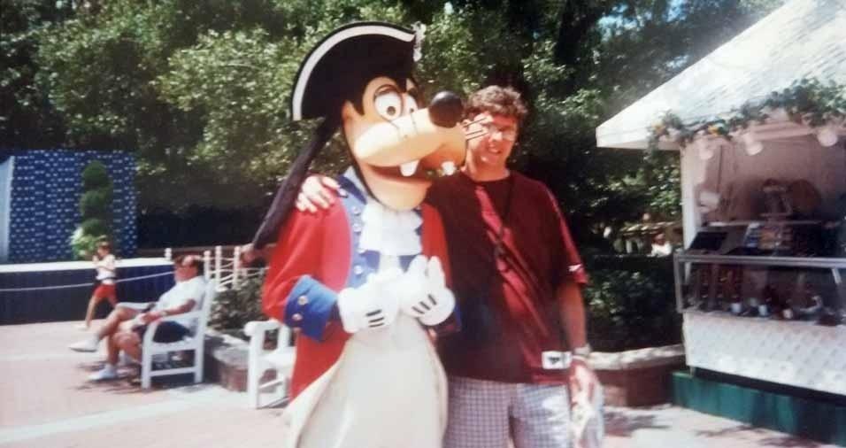Marcelo Rocco, de Guarulhos (SP), relembra uma viagem a Orlando, em agosto de 1996