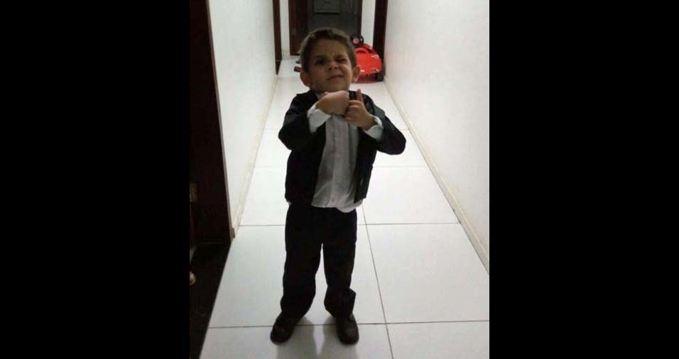"""Francisco Rogério Ferreira Mariano, de Juazeiro do Norte (CE), enviou foto do Enzo Gabriel e disse: """"Como é grande meu amor por você"""""""