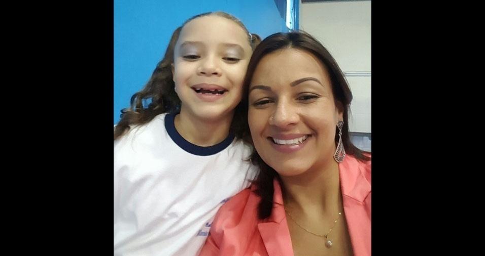 Sandra, de São Paulo (SP), com a filha Gigi