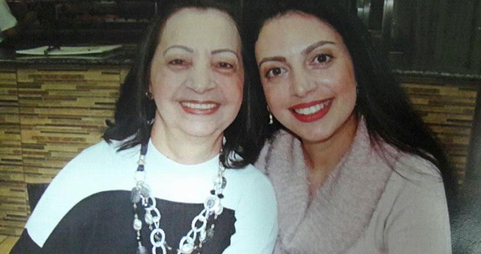 Karla Diamant homenageia a mãe Oneide, de Curitiba (PR)