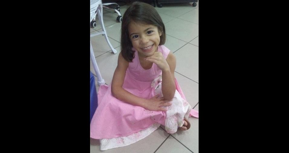 Camilly Sophia posou para a mamãe Luciana Pereira da Silva, de Diadema (SP)