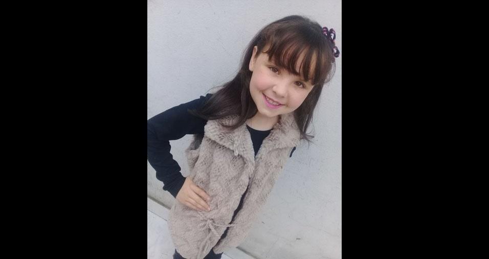 Mariana, nove anos, é a filha de Caroline Correa Villanova e de Ronaldo Keller Villanova, de Itaqui (RS)