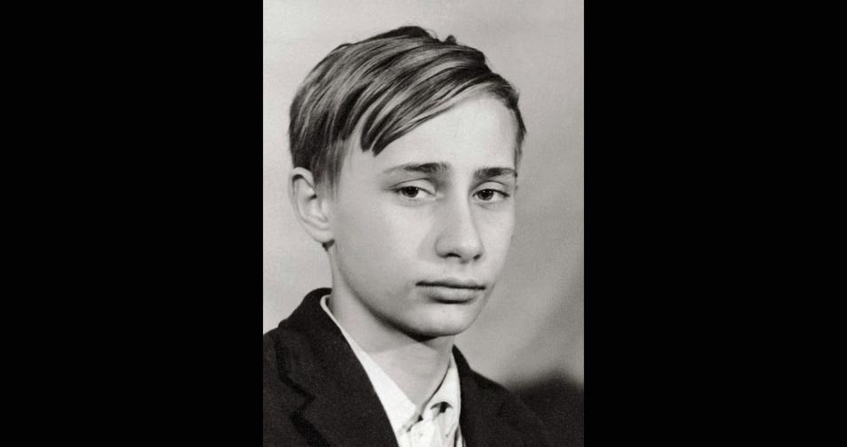O jovem Vladimir Putin em 1966