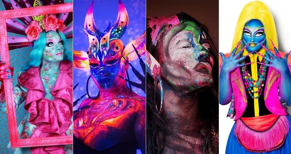 5. Nina Codorna - O Face Awards é um concurso de maquiagem artística que premia novos talentos e teve sua primeira edição no Brasil este ano. E a vencedora foi a drag queen baiana Nina Codorna! Não é difícil entender a vitória vendo tanto empenho, capricho e detalhe no trabalho de Nina, que além de arrasar nas makes, enalteceu a arte drag durante a competição