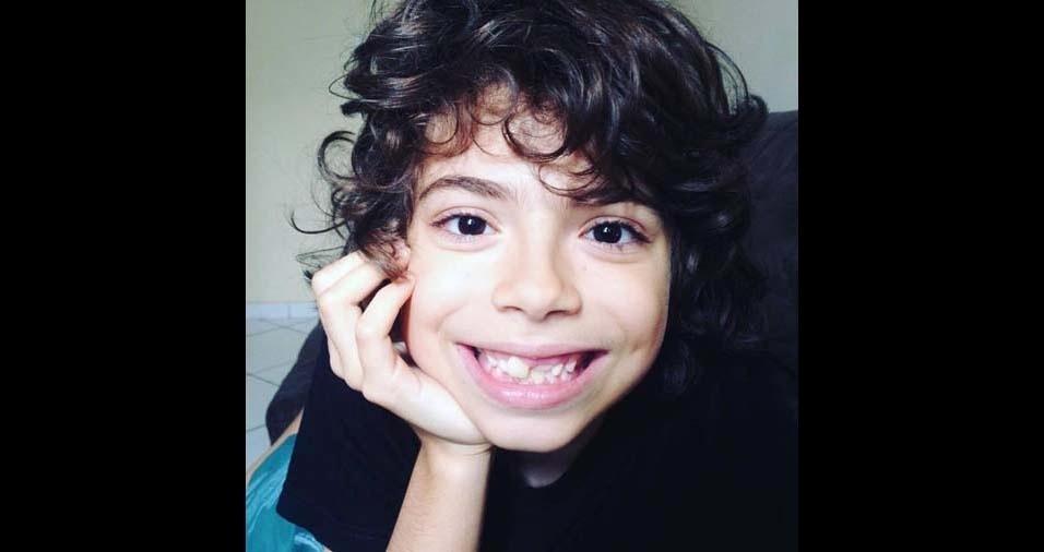 Elísia, de Americana (SP), enviou foto do filho Victor, de dez anos