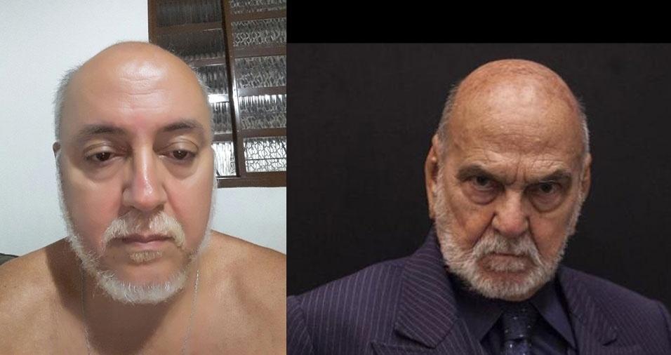 """Riberto José de Oliveira, de Goiânia (GO), diz: """"Me acham parecido com o Lima Duarte"""""""