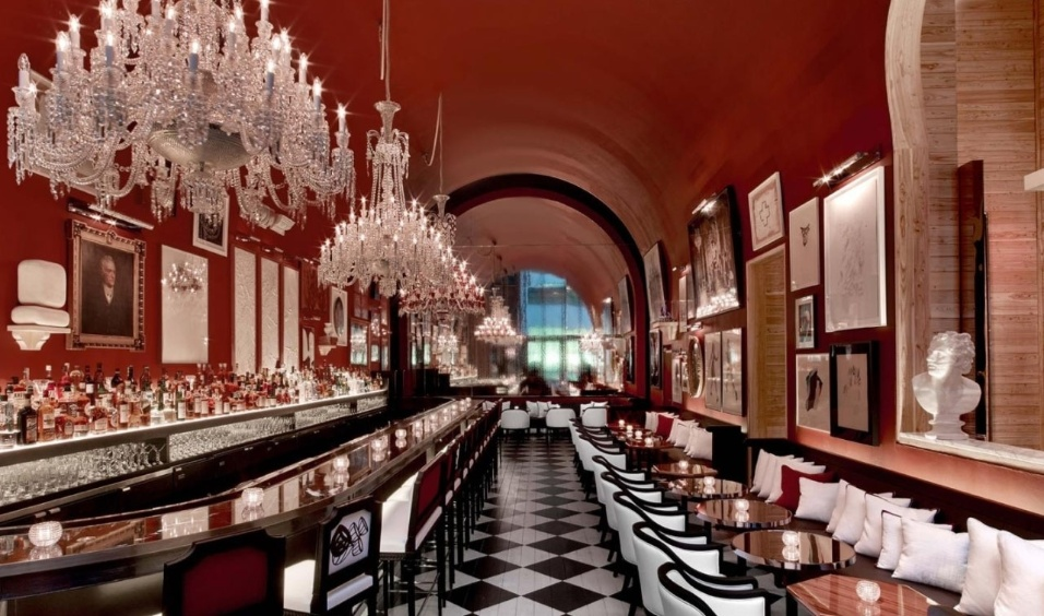 19.mai.2017 -  O bar do hotel Baccarat Residencese, onde o empresário Joesley Batista está hospedado em NY