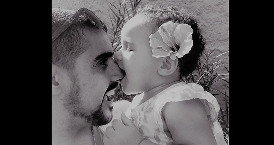 Junior e a filhinha Bárbara, de São Paulo (SP)
