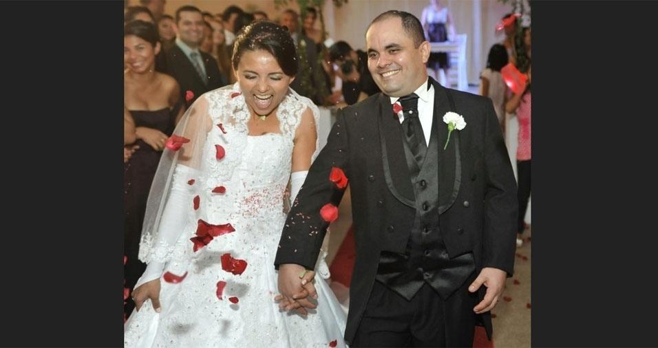 Cristiane de Araújo Martins Brelaz e Héber Baía Brelaz, de Macapá (AP), se casaram em 19 de maio de 2012