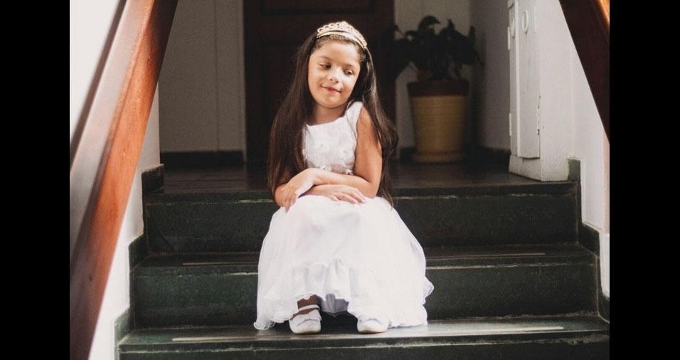 A Lindalva Lopes, de São José dos Campos (SP), mostrou toda orgulhosa a filha Caroline Lopes Andrietta