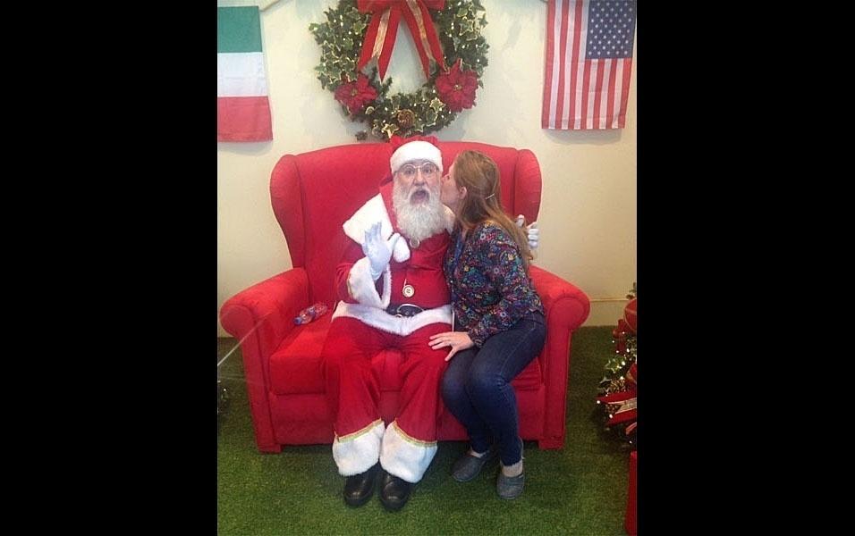 Fabiana Regina Zanacoli Bitencourt, de São Paulo, surpreendeu o Papai Noel. O que será que ela pediu?