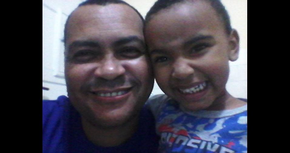 Papai Luiz Augusto e filho Luiz Guilherme