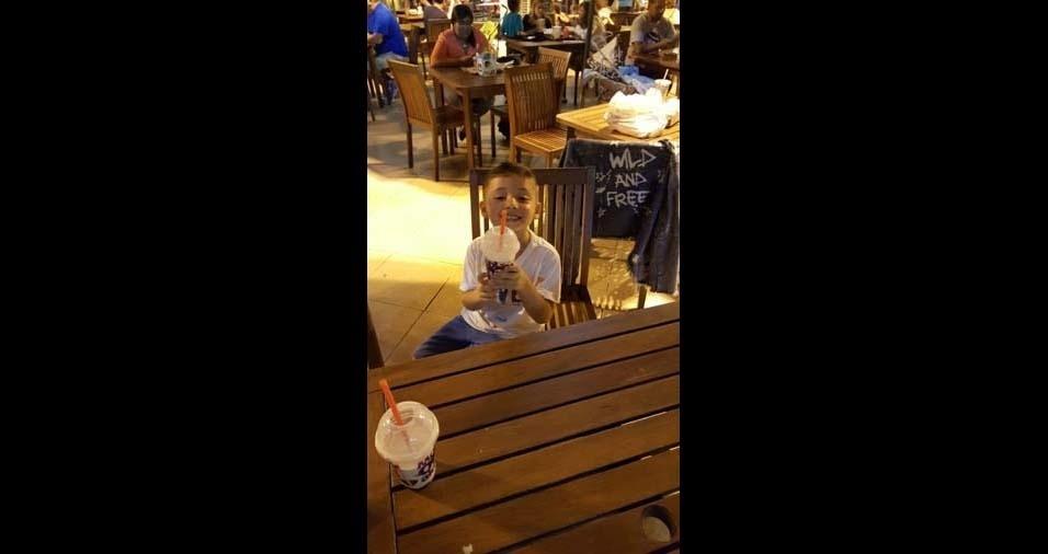 Ana Lígia enviou foto do filho Iago, de Piracaia (SP)