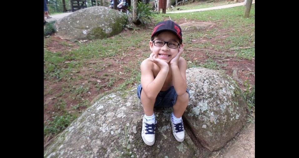 Pietro, sete anos, filho do Luciano Miraglia, de Mogi das Cruzes (SP)