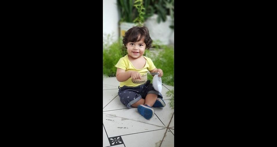 Henrique, um ano, é o filho da Eluciani Silva Canuto, de São Paulo (SP)