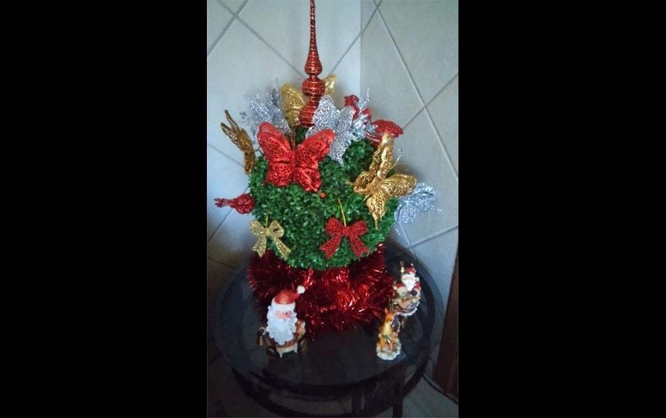 Joseane Veber, de Biguaçu (SC), caprichou nas decorações de Natal