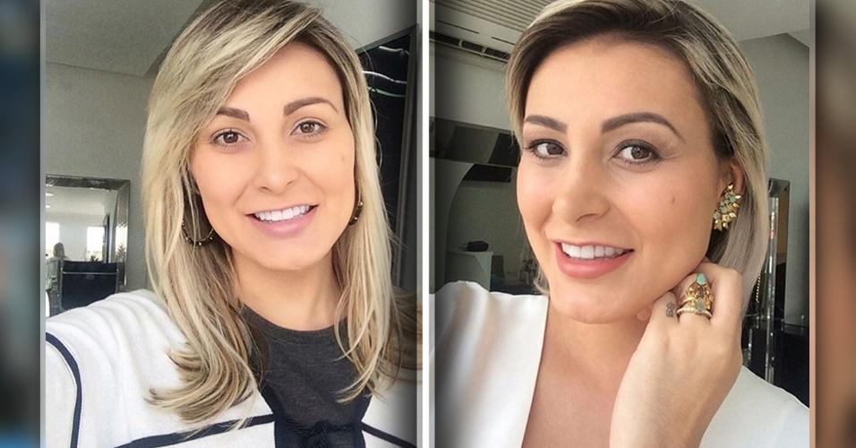 14.mar.2016 - Andressa Urach mudou de visual. A repórter colocou mega hair e postou o resultado nas redes sociais.