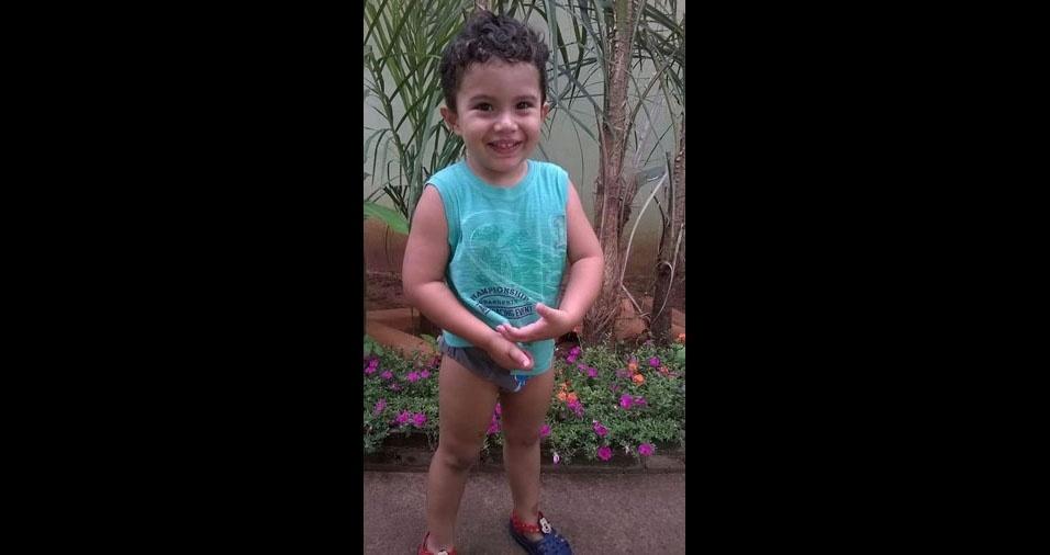 O pai Andre enviou foto do filhote Gabriel