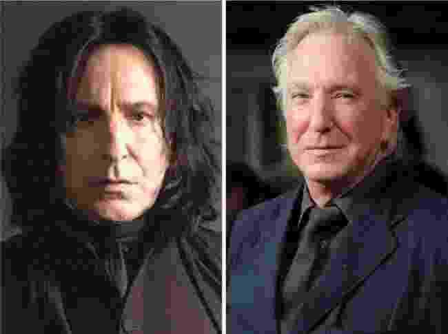 13.dez.2015 - Alan Rickman interpretou o misterioso professor Severo Snape - Montagem