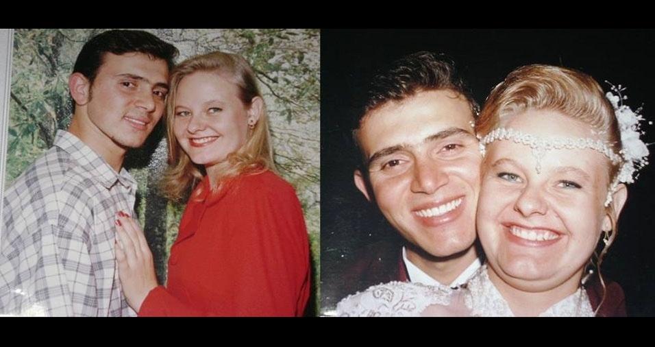 Ana Maria Miller e Fabio Miller casaram em 25 de outubro de 1997, no civil e na igreja, em São Carlos (SP)
