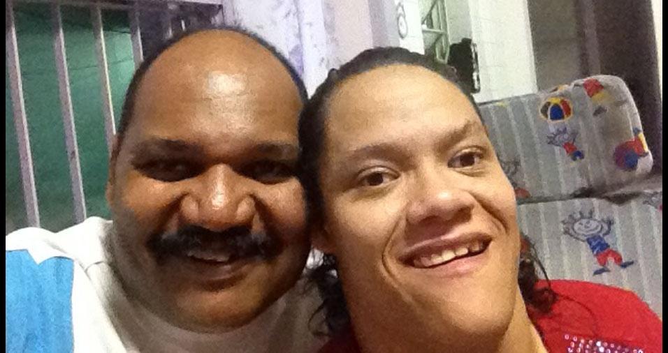 Mariana e o papai Jozenildo, de São Miguel Paulista (SP)