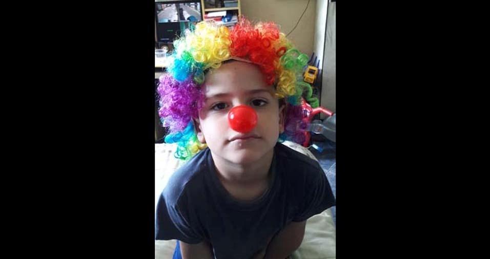 A mãe Vânia enviou foto do filho Samuel, de Carapicuíba (SP)