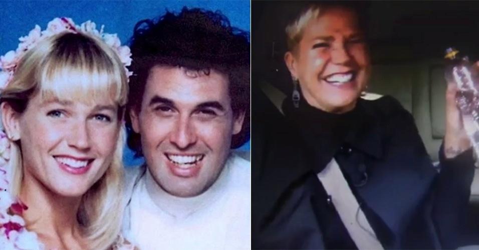 """15.mai.2016 - Xuxa revelou que sentiu nojo após beijo de Sérgio Mallandro em uma das cenas do filme """"Lua de Cristal"""", nos anos 1980.  Em entrevista ao programa """"Legendários"""", da Record, ela explicou que Mallandro teria a beijado de língua e com """"baba"""" e que, por isso, reagiu com um tapa na cara do humorista. """"Eu fui beijada de língua pelo Sergio [Mallandro], cheio de baba, que nojo.Tinha um selinho para ele me dar e me acordar [no filme]. Quando ele colocou a língua, dei na cara. Falei 'qual é, Sérgio? De língua?!' Que nojo, que nojo. Saí e fui lavar a boca"""", relembrou. Xuxa também ficou bastante à vontade com Marcos Mion para arrotar durante a entrevista e lhe ensinar a fazer cara de tesão."""
