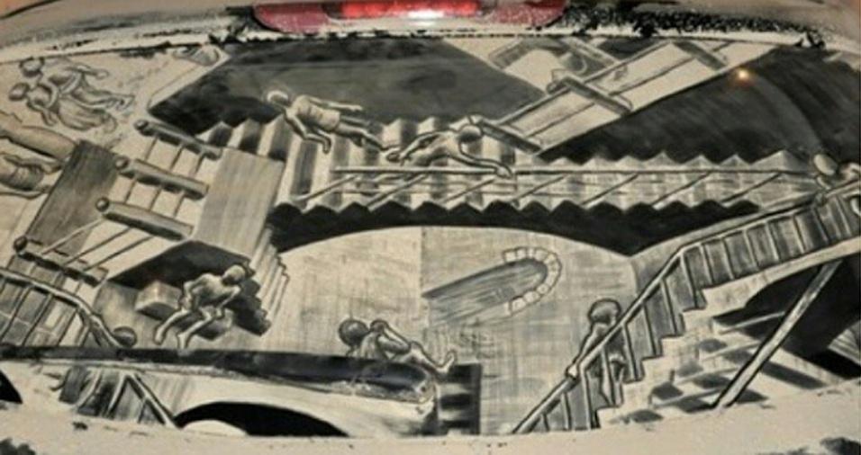 24. Diretamente das obras de Escher para o seu carro