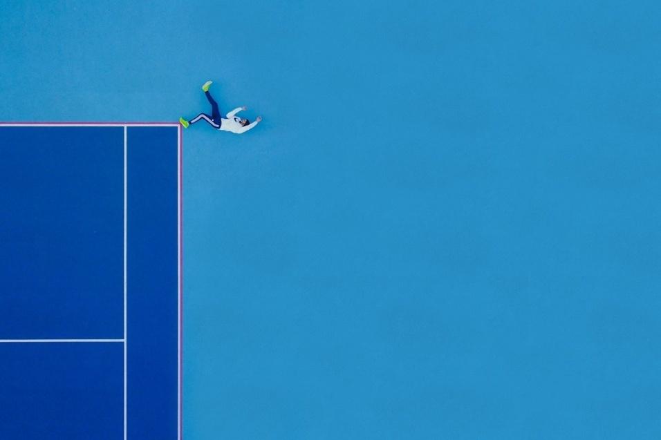 """Chamada de """"fim da linha"""", a imagem do tenista levou o primeiro lugar na categoria """"pessoas"""""""