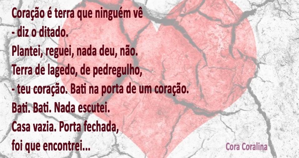 Muitas vezes 30 frases ou trechos de poemas de Cora Coralina, que faria  BR73