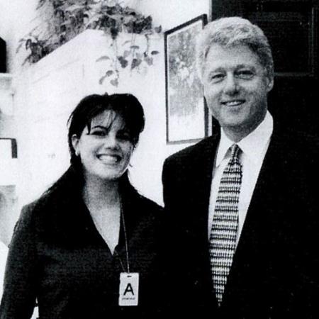 Bill Clinton com a estagiária Monica Lewinsky - Reprodução/Pagesix