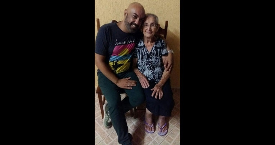 """Eliano Meira Santana apresenta a avozinha Alice Leite Meira,  de Mauá,  (SP): """"Essa joia rara tem 87 aninhos"""""""