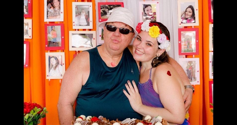 Juliana com o papai Aldo, de São Paulo (SP)