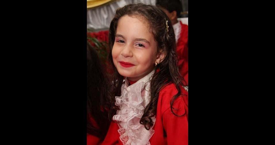 Fernanda, de Petrópolis (RJ), enviou foto da filha Manuelly, de seis anos