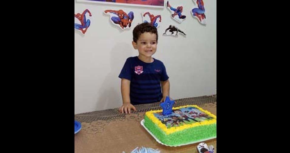 Juliana Cecília e Edivaldo, de Vera (MT), mandaram foto do filho José Miguel, de três anos
