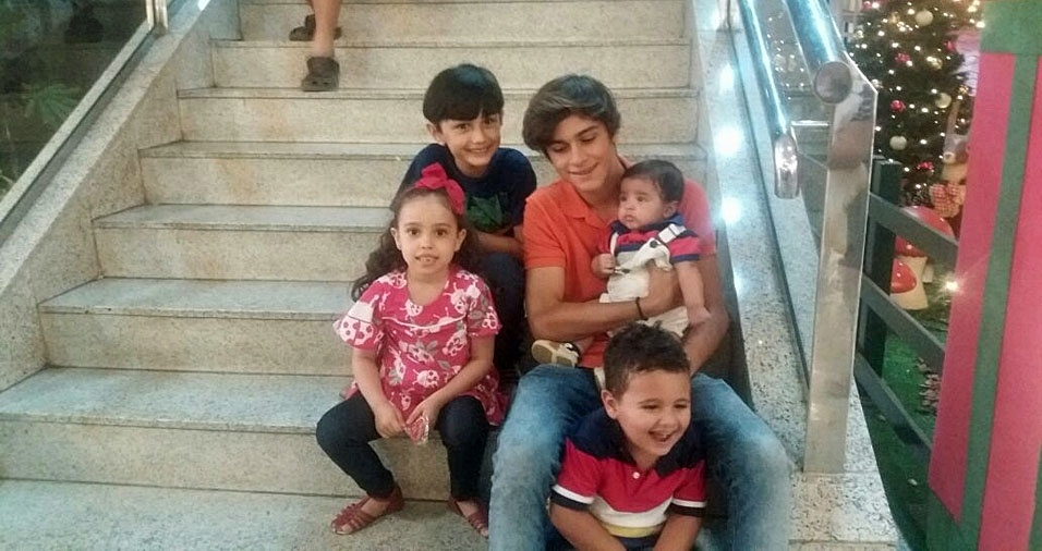 Vovô Marcelo Peixoto, de Messias (AL), enviou foto dos netos Suel, Gabriel, Arthur, Mariana e Marthin, de Maceió (AL)