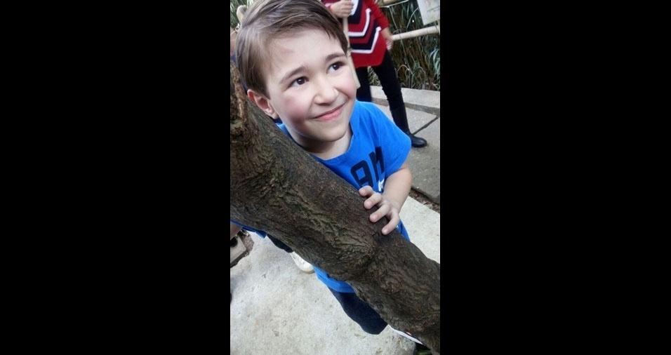 A mamãe Carolina Ferreira enviou foto do filho Pedro Henrique, de sete anos, de São Paulo (SP)