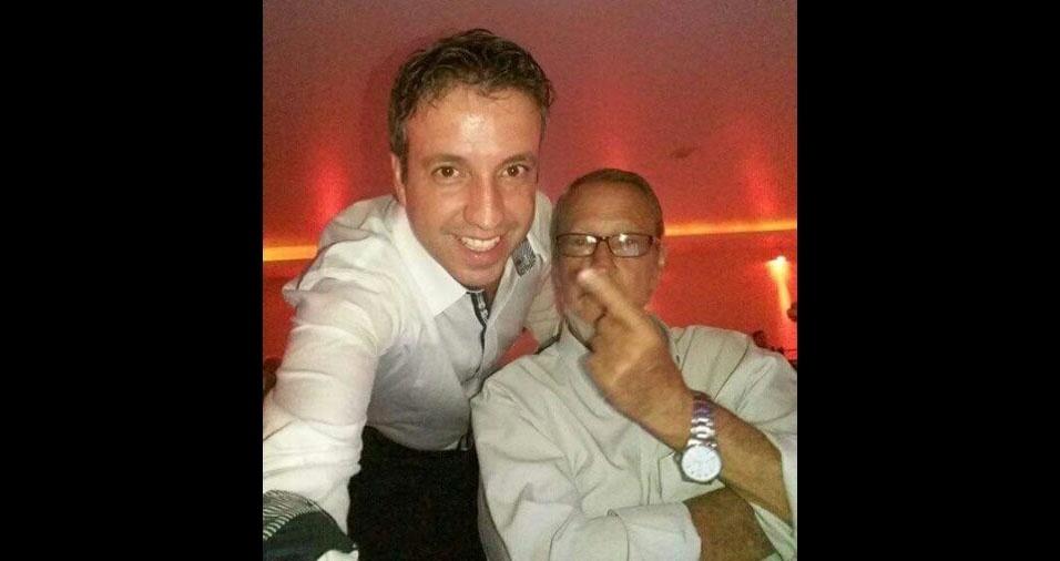 Paulo Henrique com o papai Dirceu, de São Paulo (SP)