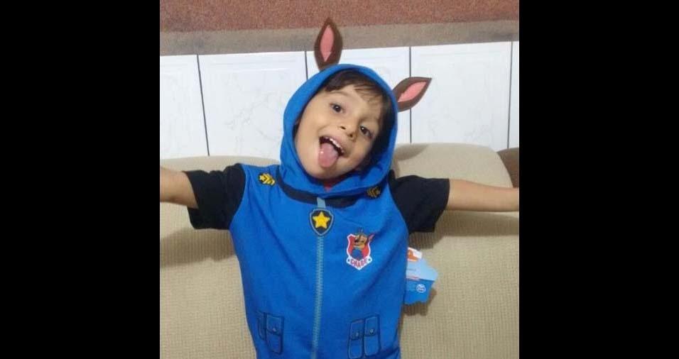 Josi Melo enviou a foto do filho Guilherme, de Aracaju (SE)
