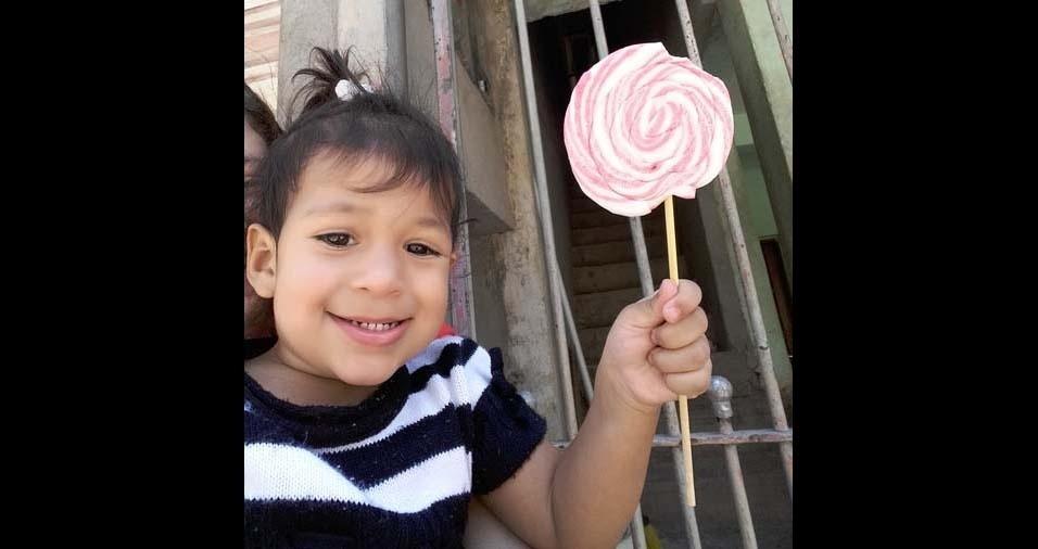 Thais Gabriela, de Carapicuiba (SP), enviou foto da filha Manuela, de um ano e dez meses