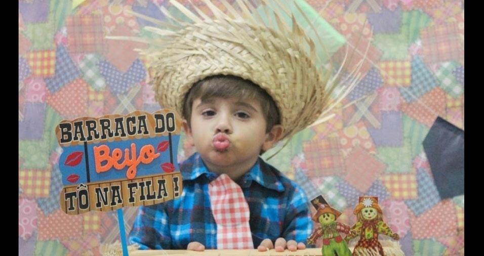 Everton Leandro Bernardo, de Campinas (SP), enviou foto do João Gabriel, de três anos
