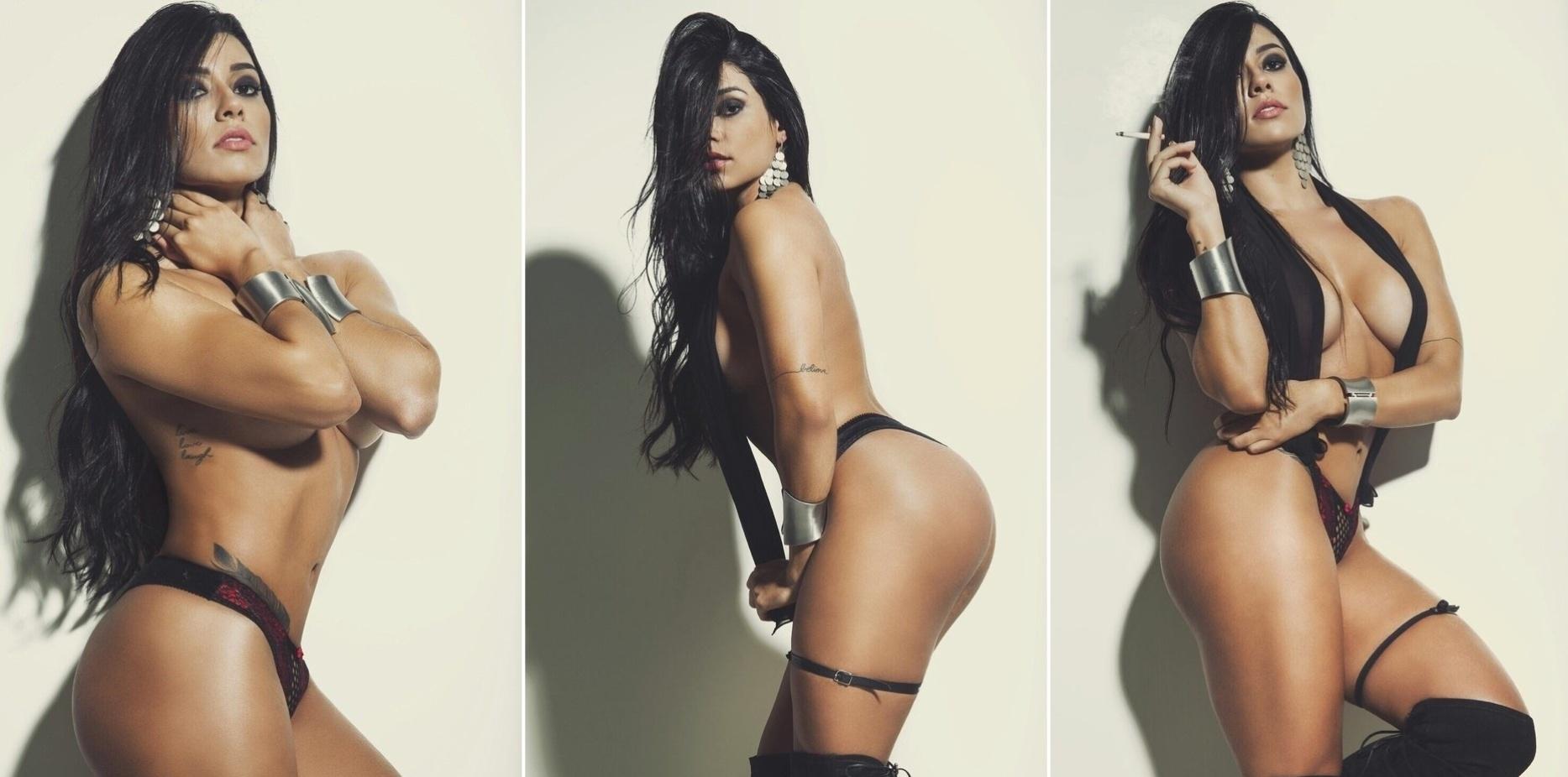 1.ago.2015 - A modelo Cintia Valentin, candidata ao concurso de mulher mais sexy do Brasil, posou pra um ensaio sensual e falou que ama sexo.