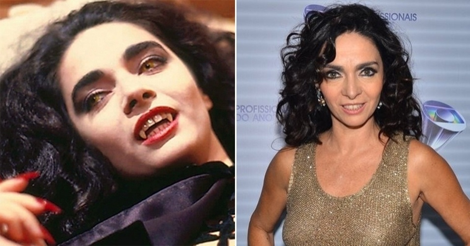 """5.set.2015 - Exibida em 1991, """"Vamp"""" foi um sucesso. As transformações dos personagem em vampiros conquistaram os telespectadores. Cláudia Ohana virava uma morcegona"""