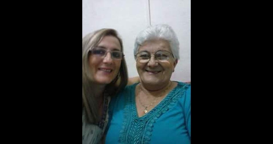 Maria Beatriz com a mamãe Rute