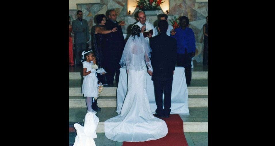 João Ap. Bueno e Patricia Moreira casaram-se no dia 12 de outubro de 2002, em São Paulo (SP)