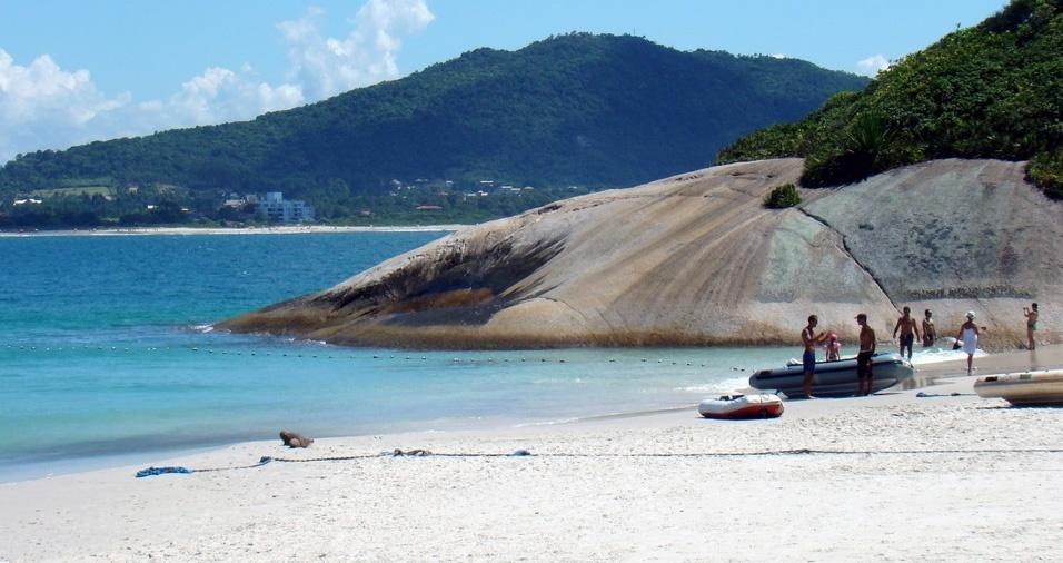 3. Ilha do Campeche e Praia do Campeche - A ilha possui um grande valor arqueológico, e a visibilidade da água ultrapassa dez metros de profundidade; é permitida a visitação de até 770 pessoas por dia durante a temporada, de dezembro a fevereiro, entre as 9h e 17h. A praia é famosa pelo surfe e vários outros esportes, como bodyboard, kytesurf, caiaque e futevôlei . Você pode avistar baleias-francas no local entre julho e agosto