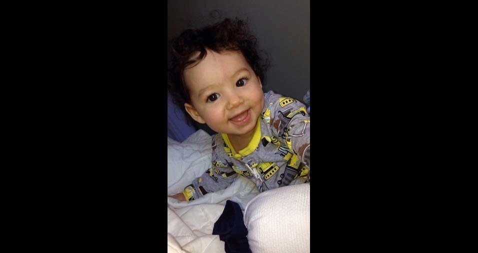 Fabio enviou a foto do filho Lorenzo