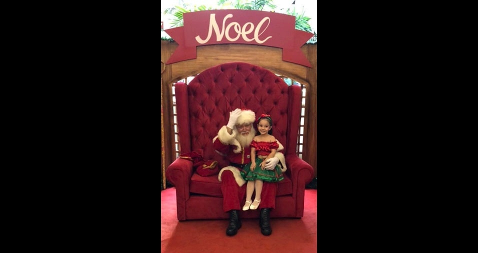 Carlos Eduardo enviou foto da filha Sophia com o Papai Noel, de Rio de Janeiro (RJ)